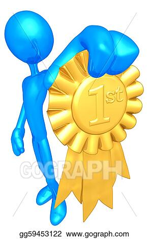 Stock Illustration - 1st place gold ribbon award. Clipart ...
