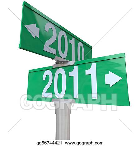 2010 Changing to 2011 - Two-Way Street Sign