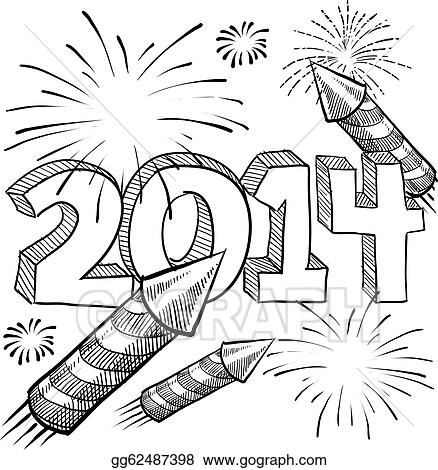 New Years Eve 2014 Clipart Black And White