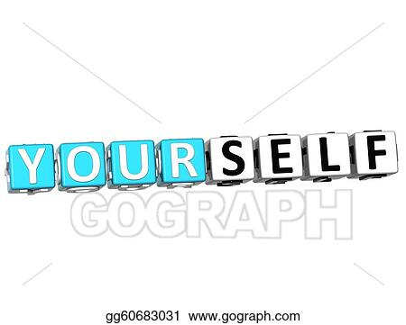 Stock Illustration - 3D Believe in Yourself text. Clipart ...