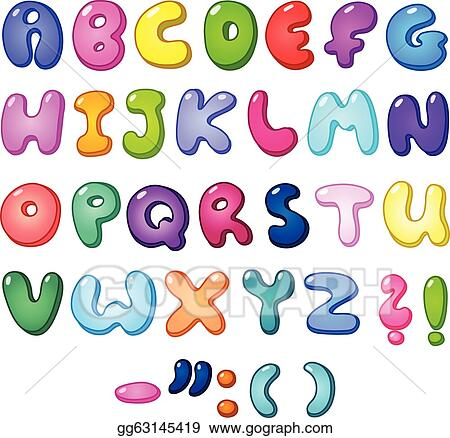 Happy Birthday In Bubble Letters In Black And White 3d bubble alphabet ...