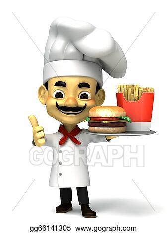 D Fat Fast Food Render