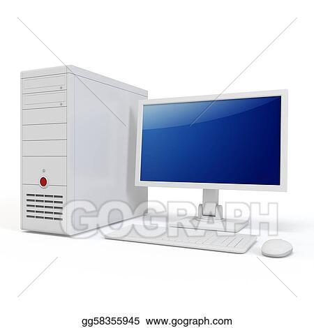 3d computer generic desktop