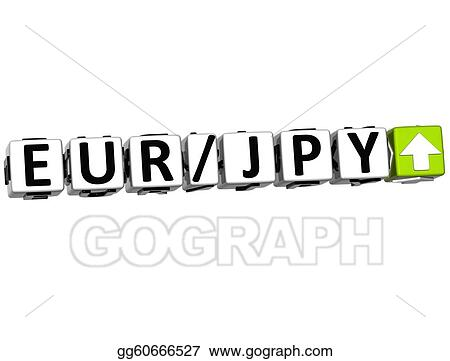 3D Currency euro yen rate concept symbol