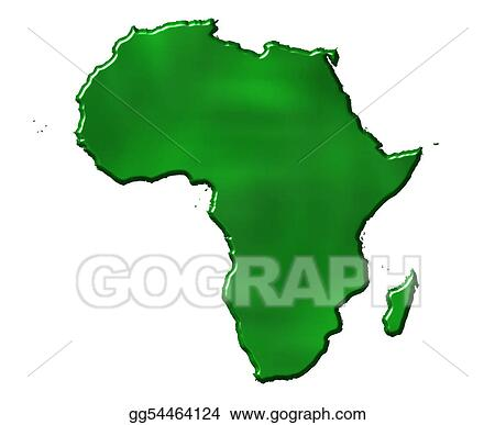 Stock Illustration - 3d ecological africa map. Clipart Drawing ...