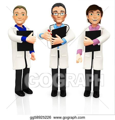 Group Of Doctors Clipart 3D group of doctors