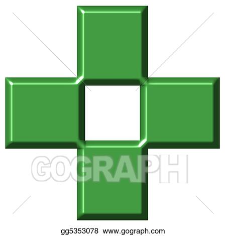 3D Pharmacy Cross