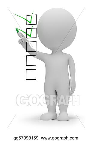 3d small people - checklist