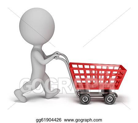 stickman shopping cart
