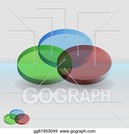 ... of a 3d venn diagram sections chart.. Stock Illustration gg61953049