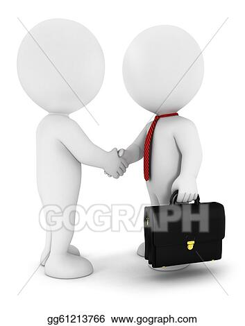 Drawing - 3d white people businessmen. Clipart Drawing gg61213766 ...