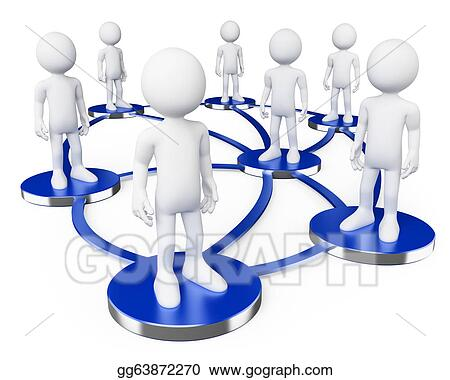3d white people social networks