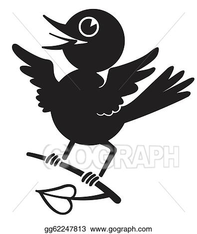black and white pictures of birds  Bird clip art  vector