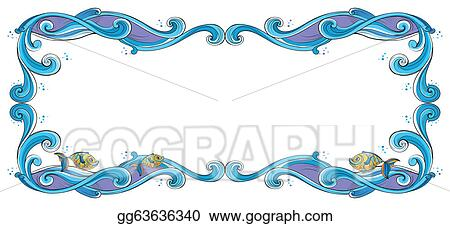 Vector Illustration - A border with fish. Stock Clip Art ...