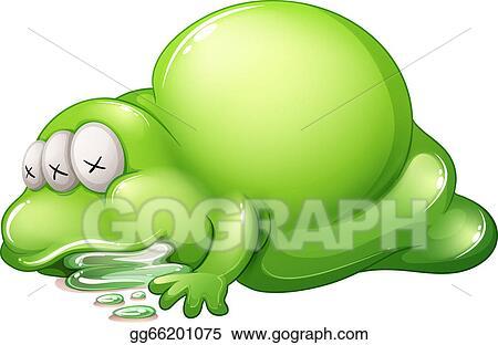 clipart a dead greenslime monster stock illustration gg66201075. Black Bedroom Furniture Sets. Home Design Ideas