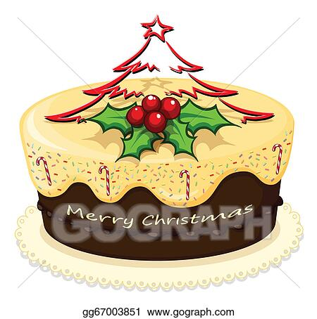 Delicious Cake Clipart : Vector Stock - A delicious cake for christmas. Stock Clip ...