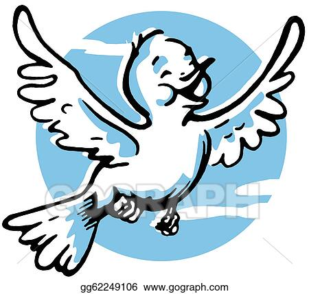 Drawing - A Happy Looking Bird Flying. Clipart Drawing Gg62249106 - GoGraph