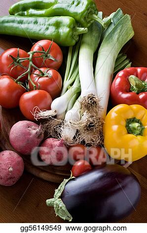 A selection of fresh organic vegetables