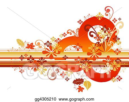 Abstract Autumn Border