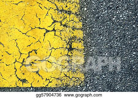 Abstract background of old paint on asphalt road