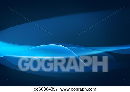 Abstract blue background, wave, veil or smoke texture