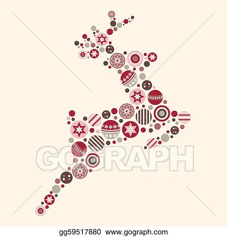 clip art vector abstract christmas reindeer vector stock eps gg59517880 gograph. Black Bedroom Furniture Sets. Home Design Ideas