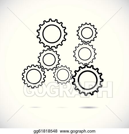 Abstract Cogwheels In Black And White Showing Controlled Rotatin Gg61818548