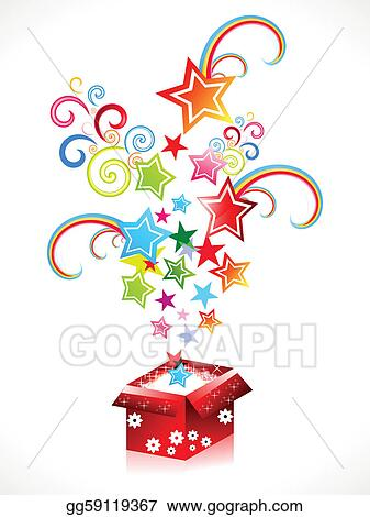 Vector Clipart Abstract Colorful Magic Box Vector