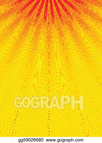 Abstract sunbeams. Vector illustration