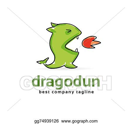 Clip Art - Abstract vector dragon monster logo icon concept ...