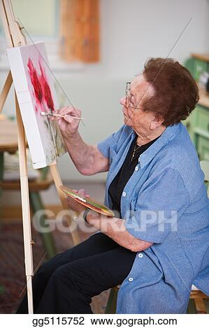 Active senior paints a picture in Leisure