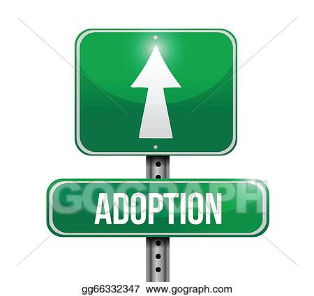 Adoption road sign illustration design