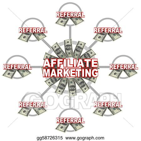 of referrals and money. Stock Art Illustrations gg58726315 - GoGraph