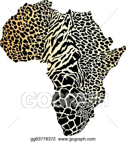Vector Art - Africa map in a cheetah camouflage. Clipart Drawing ...