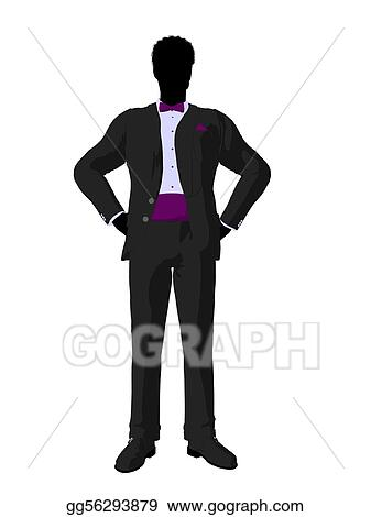 Stock Illustration - African american wedding groom in a tuxedo ...