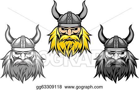 ... viking warriors for mascot or tattoo design. Stock Clipart gg63309118