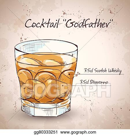 Vector Art - Alcoholic cocktail godfather. Clipart Drawing ...