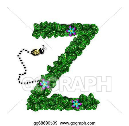 Clipart - Alphabet bee buzz z. Stock Illustration gg68690509 - GoGraph