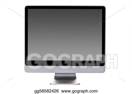 Aluminium Desktop Computer with flat screen