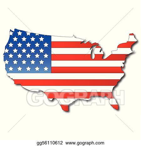 Vintage American Flag Border Clip Art - info