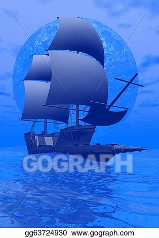 Related Pictures boat night 3d ship ocean wallpaper background