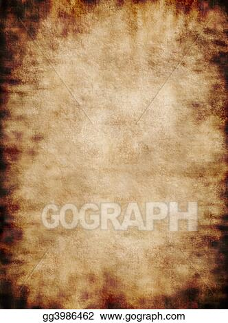 Ancient rustic grungy parchment paper texture background