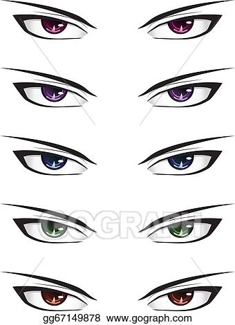 Magnificent Vector Stock Anime Male Eyes Stock Clip Art Gg67149878 Gograph Hairstyles For Men Maxibearus
