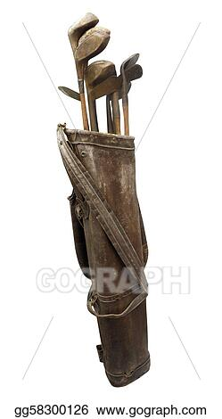 Antique Golf Clubs in Bag