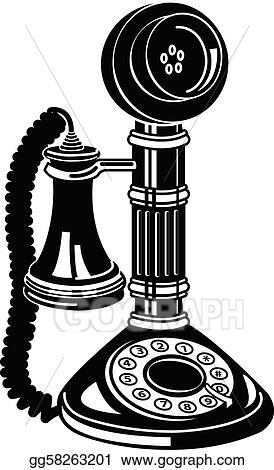 Antique Telephone Or Phone Clip Art