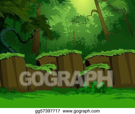 Artistic jungle background