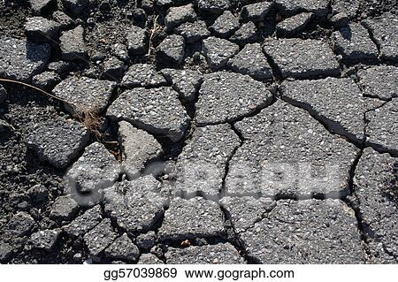 Asphalt cracked