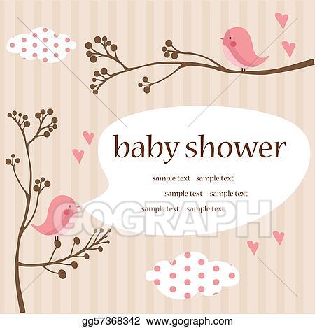 stock illustration baby girl shower illustration clipart