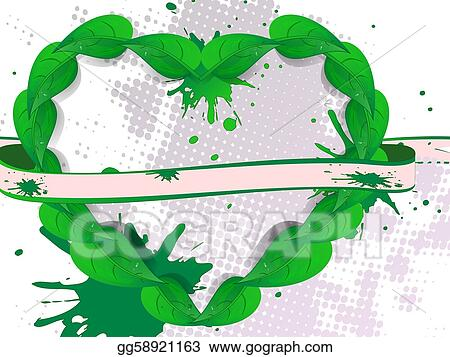 Background green banner petal