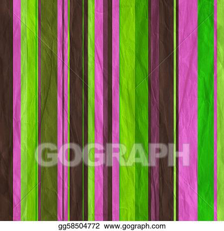 Background with colorful  pink, green and brown stripes